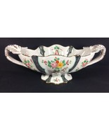 Deruta Fruit Bowl Italian Hand Painted Floral Band Scalloped Centerpiece... - $177.29