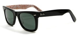 Ray Ban 2140 1017 Rare Black&Red Wayfarer Sunglasses 50mm New and Authentic - $98.95