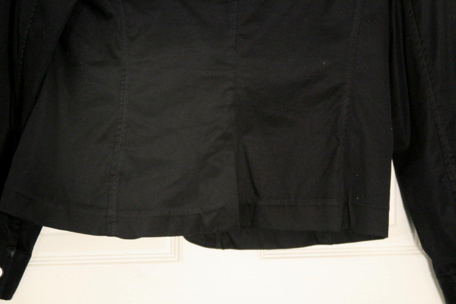 Talbots Ruffle Cotton Tailored Blazer Womens 12 Classic Grace Fit Navy Blue  image 4
