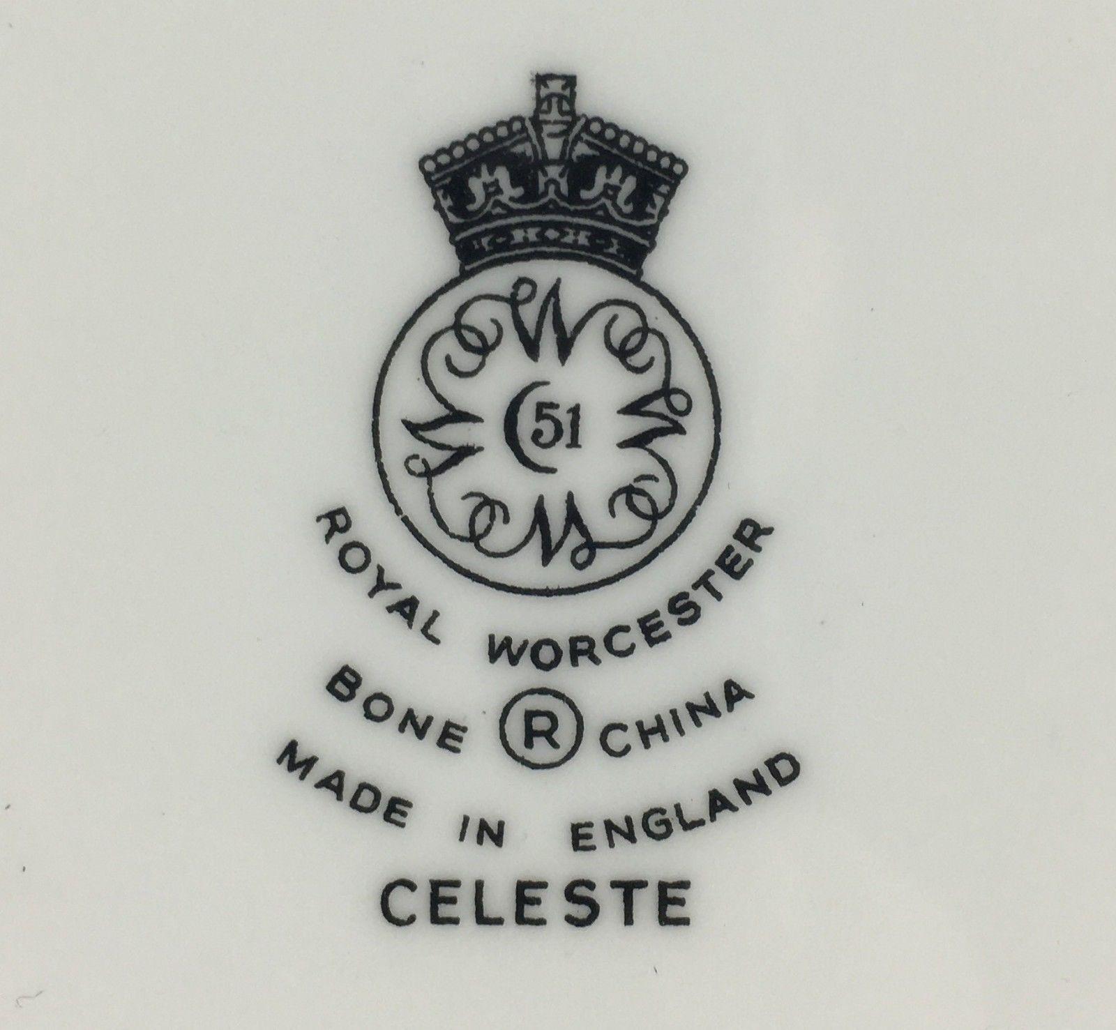 Royal Worcester CELESTE salad plate (11 available) (SKU EC 63) FREE SHIPPING image 3