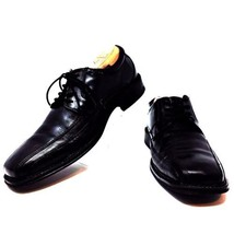 Dockers Black Leather Lace Up Endow Oxfords Shoes Bicycle Toe Mens 9.5 M - $39.50