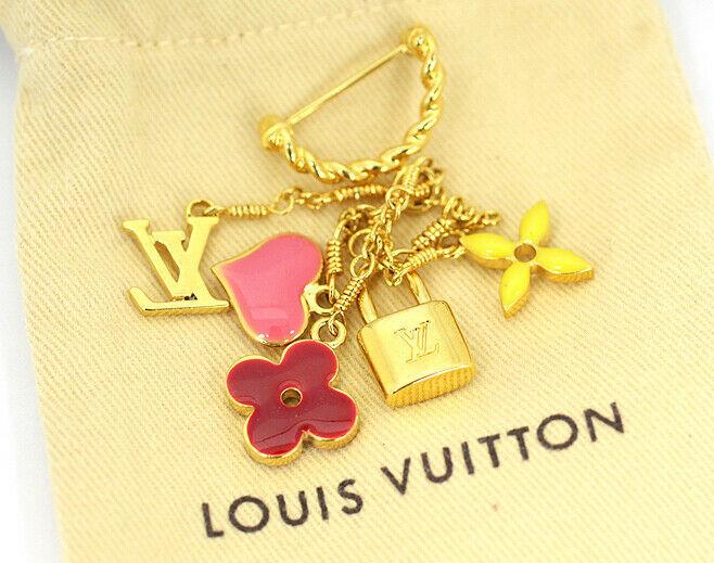 LOUIS VUITTOM Louis Vuitton charm brooch M65353 Sweet Burosshu Monogram