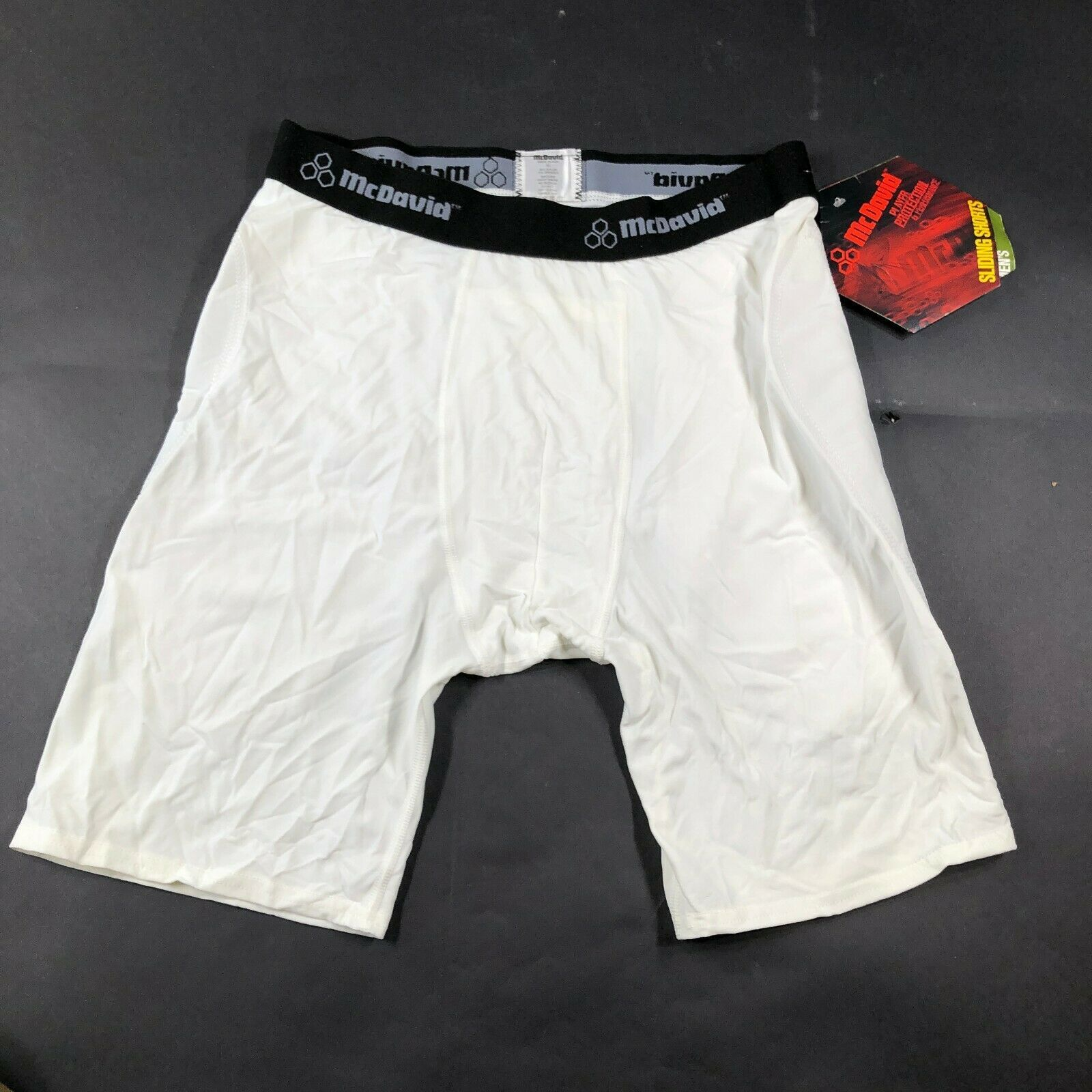 Primary image for McDavid Mens XL White Padded Sliding Shorts Baseball Softball Compression NWT