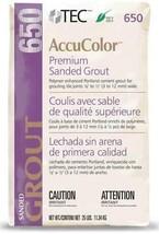 TEC AccuColor Premium Sanded Grout - 25 lb Slate Gray # 934… - $74.50