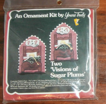 """Visions of Sugar Plums Yours Truly Ornaments Christmas Fabric 4"""" x 6"""" - $8.79"""