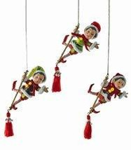 Katherine's Collection Acrobat elf Christmas Ornaments Set of 3 - £62.80 GBP