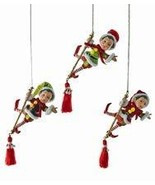 Katherine's Collection Acrobat elf Christmas Ornaments Set of 3 - £61.17 GBP