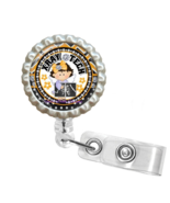 Yellow Little Girl X-Ray Tech Retractable Reel ID Name Tag Badge Holder ... - $10.00