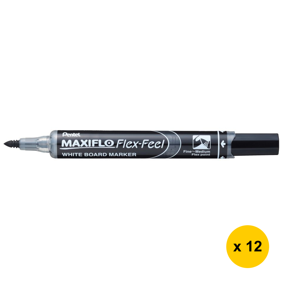 Primary image for Pentel MAXIFLO MWL5SBF Fine - Medium Flex Point Whiteboard Markers (Pack of 12)