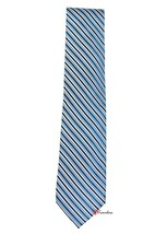 Club Room Estate Men's Neck Tie Blue and White Stripes 100% Silk $49.50 - $19.80