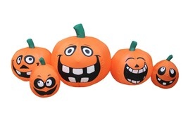 5 Foot Long Halloween Inflatable Funny Cute Face Pumpkins Patch Yard Dec... - $59.00