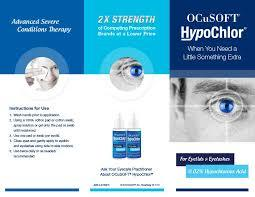 Ocusoft HypoChlor 0.02% Eyelid Eyelash GEL 2 oz FREE shipping