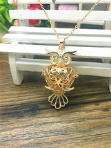 OWL BE YOUR HEART AROMA DIFFUSER LOCKET NECKLACE >> COMBINED SHIPPING  - $8.66
