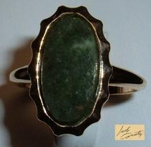 Vintage Sarah Coventry  Jewelry - #5417 Genuine Jade Ring - $27.03