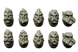 Spellcrow 28mm Wolf Space Knights Bits: Wolves Heads