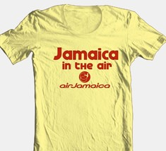 Jamaica Airlines T-shirt 100% cotton vintage style graphic printed tee reggae image 2