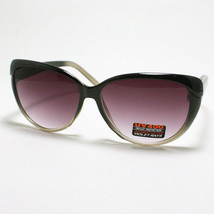 CAT EYE Womens Sunglasses Retro Style Fashion 2-Tone Frame BLACK to Clear - $7.95