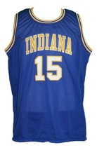 Jerry Harkness #15 Indiana Aba Basketball Jersey Sewn Blue Any Size image 4
