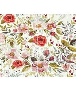"""Curtains Spring Flower Blooms Leaves Print 108""""W x 96""""L Floral Backdrop ... - $46.30"""