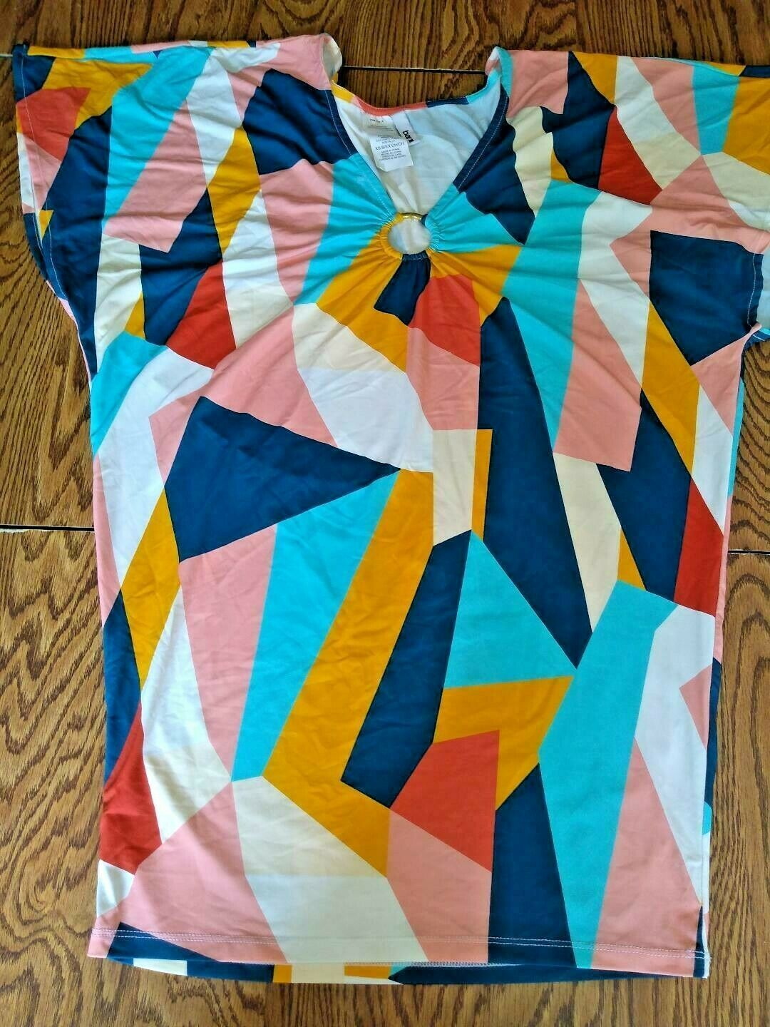 Bar III Multi Color Pop Art Beach Cover Up Size XS