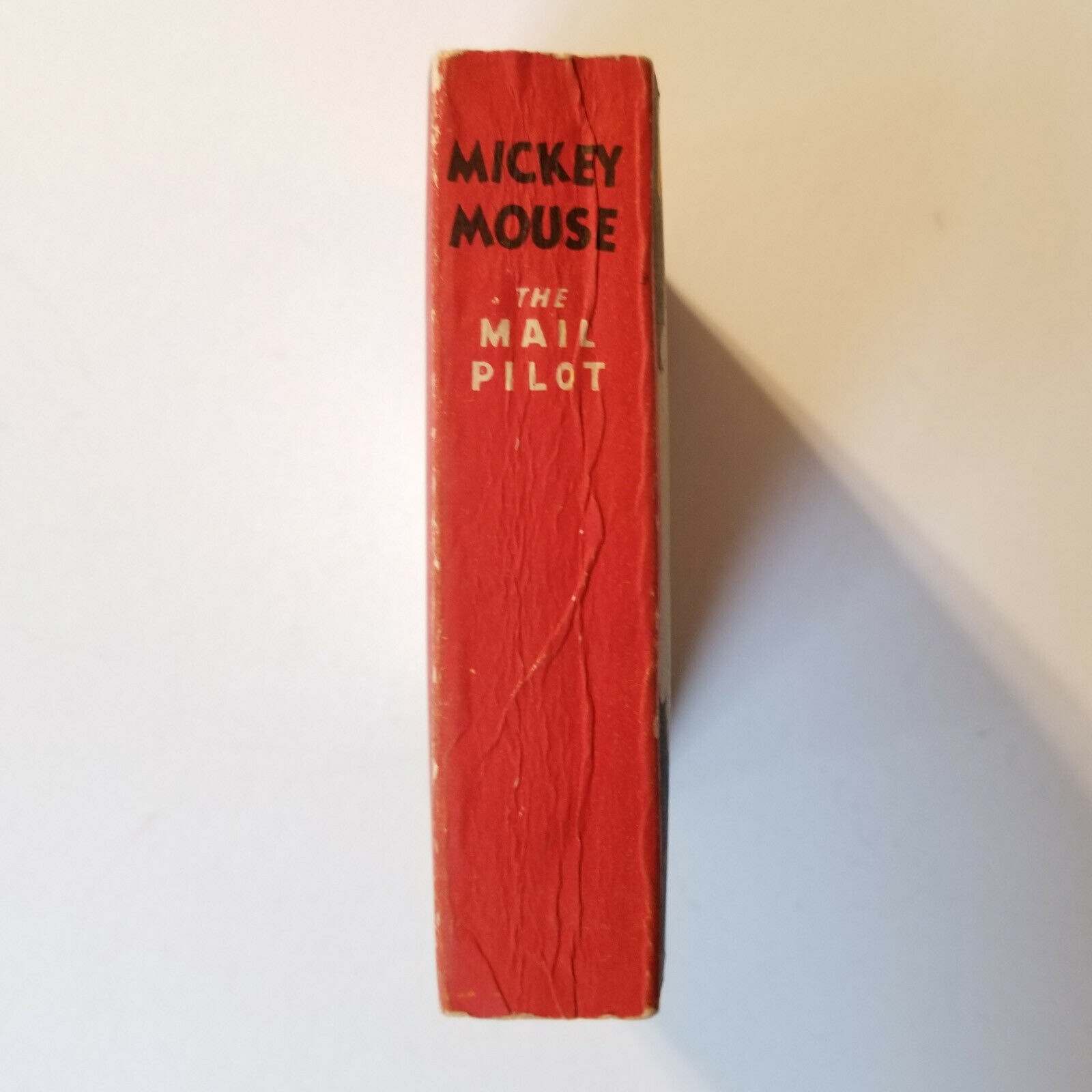 RARE 1933 Mickey Mouse The Mail Pilot NO# NO AD 320p Big Little Book Soft Cover