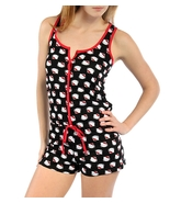 Sanrio Hello Kitty Women's Kitty Print Romper Playsuit Sleepwear Size Large - $28.00