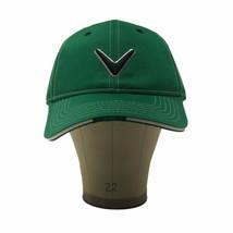 Callaway Golf Hat Cap V Logo Baseball Green Hook Loop  - $19.99