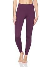 Danskin Women's Classic Supplex Body Fit Ankle Legging, BlackBerry Wine, M
