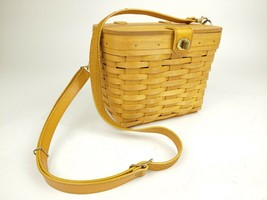 "1991 Longaberger Hand Woven 7"" Tall Shoulder Purse Basket - $59.97"