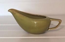 Green Gravy Boat Mid Century Vintage Ceramic 20633 - $14.01