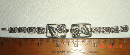 VTG ART DECO STERLING SILVER FRAMED FORGET ME NOT FLORAL FLOWER GARDEN B... - $197.99