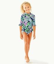 NWT Lilly Pulitzer Kids UPF 50+ Clara Rashguard Swimsuit Set 7 - $58.89