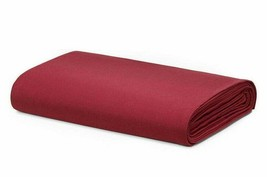 Calvin Klein Cotton QUEEN FLAT SHEET | HARRISON | Burgundy - $49.24