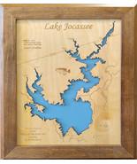 Wood Laser Cut Map of Lake Jocassee, South Carolina Topographical Engraved Map - $124.99 - $399.99