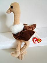 TY Beanie Babies STRETCH Ostrich bird PLUSH TOY  1997 - $6.99