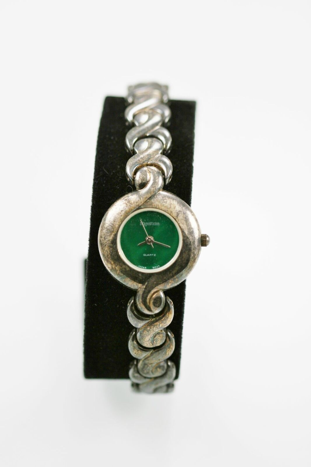 Primary image for Majestron Watch Women Green Stainless Antiqued Silver Steel Water Resist Quartz
