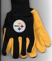 Pittsburg Steelers team Sport Utility Gloves yellow blk garden NFL Footb... - $17.77