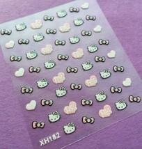 Bang Store Nail Art 3D Decal Stickers Giltter Hello Kitty Hearts Bows Cute Kawai - $3.68