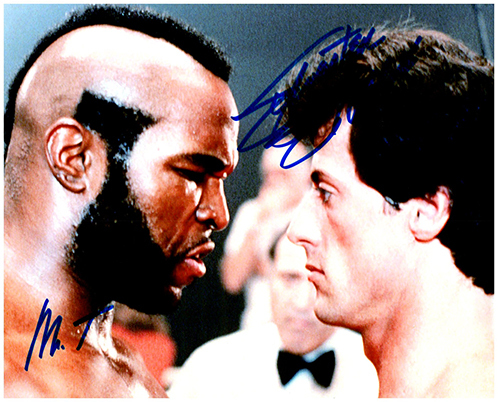 Primary image for ROCKY - SYLVESTER STALLONE & MR T Signed Autographed Cast Photo w/COA 127