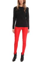 Neu mit Etiketten Helmut Lang Stretch Plonge Leder Leggings Hose Jeans V... - $427.99