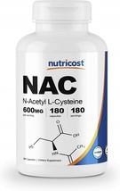 Nutricost N-Acetyl L-Cysteine (NAC) 600mg, 180 Capsules - Veggie Caps, N... - $74.04