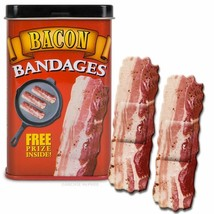 Sizzlin' Bacon Adhesive Bandages Set in Collectible Band Aid Tin! - $4.63