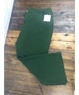 Green Dream Jeanne's Quacker Factory 28W Pants Rhinestone Heart Pockets ... - $28.04