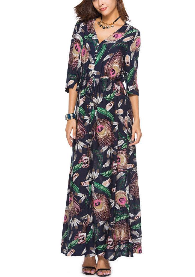 Women Off Shoulder Short Sleeve Casual Loose Fit Long Maxi Dress RCAI 01