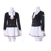 Card Captor Sakura Girl Sailor High School Uniform Outfit Cosplay Costume - $43.99