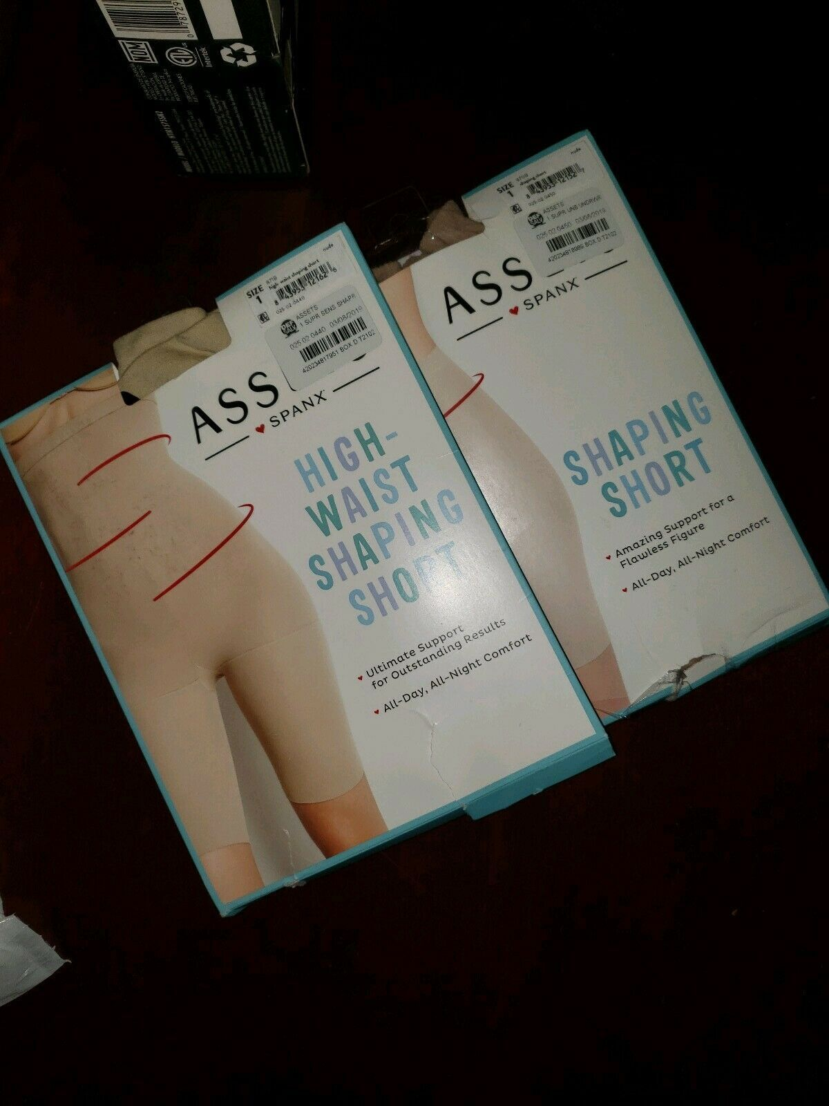 2 pack- Spanx by Assets Shaping Short Size 1 Nude 870B SIZE 1 OPEN BOX - $26.99