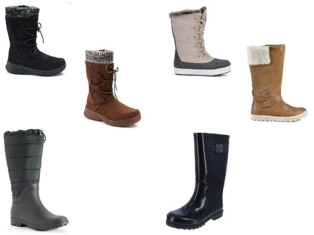 Womens Winter Snow Rain Boots Water Resistant Kamik Itasca Superfit Rugged Mid - $38.61 - $54.45