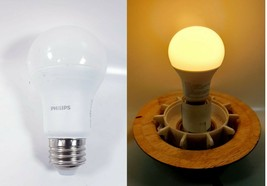 Lot Of 5 Philips Dimmable Led A19 Light Bulb - Medium Base - 9.5W - Soft White - $10.88