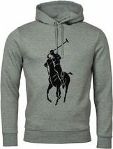 POLO RALPH LAUREN Men's BIG Pony GRAPHIC Double Knit TECH Hoodie NEW GRE... - $118.99