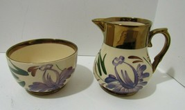 Vintage Wade Pottery lustreware Wade Luster Lustre Harvest Sugar and Cre... - $4.00